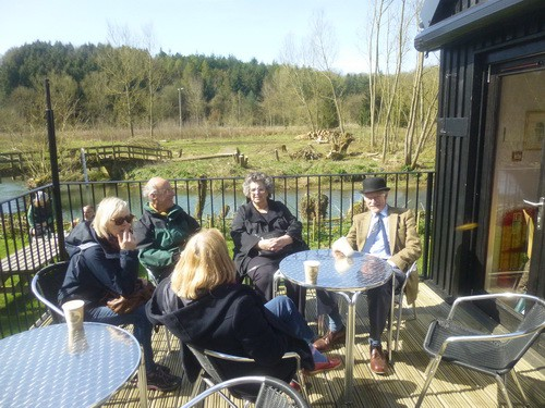 Visitors Relax At The Tea Room