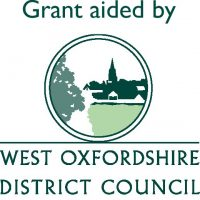 Grant aided by WODC A4 colour ruled logo