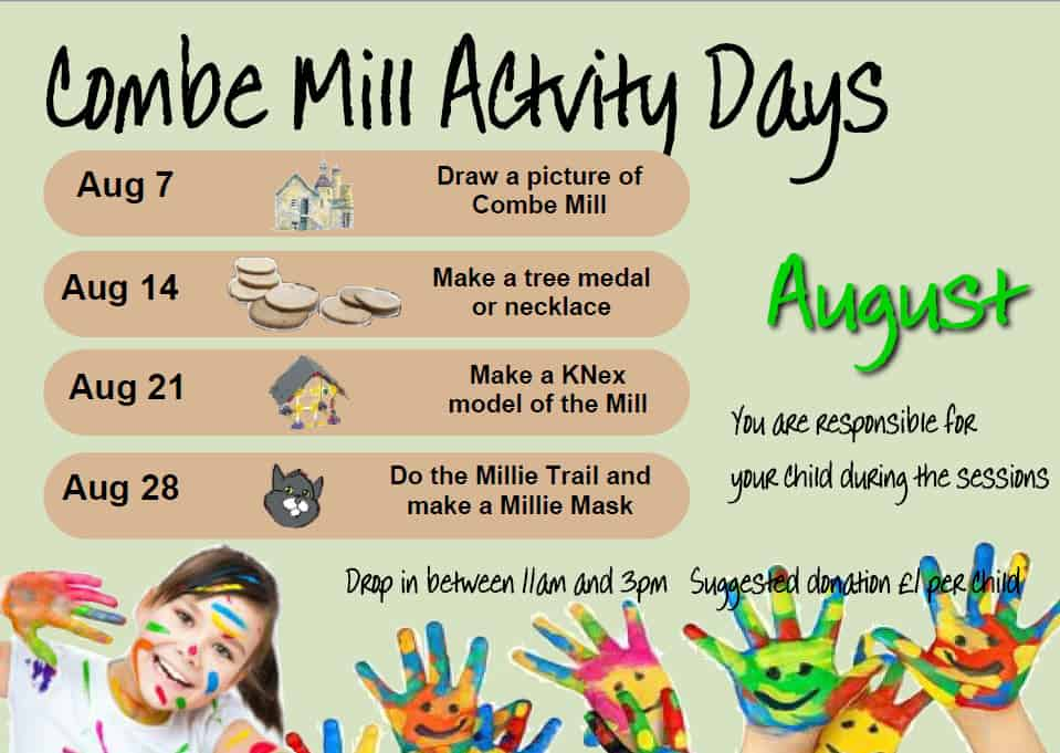 August Activity Days - Email  education@combemill.org