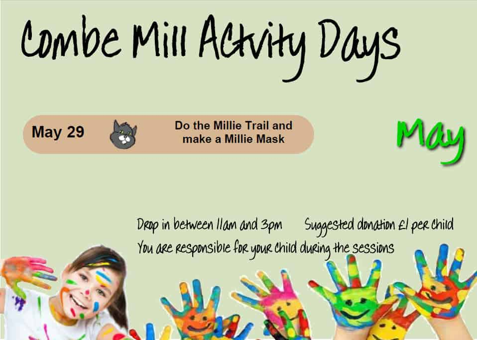 May Activity Days - Email  education@combemill.org