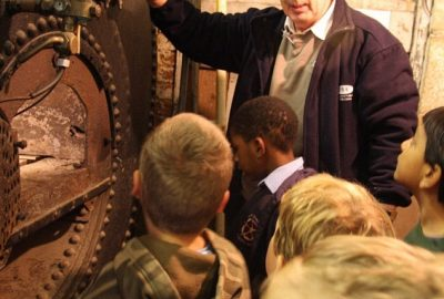 Tony Simmons explaining the Cornish boiler